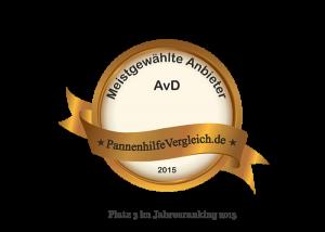 AvD Automobilclub von Deutschland Platz 3 2015