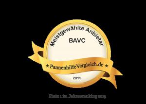 BAVC Bruderhilfe Automobilclub Platz 1 2015