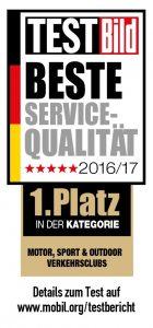 Testsiegel Beste Servicequalität Mobil in Deutschland