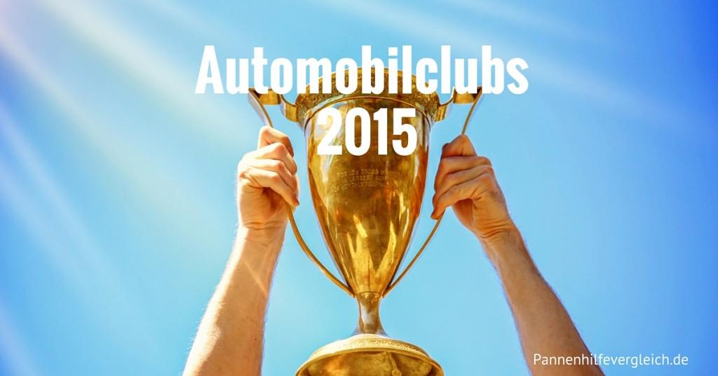 Automobilclubs 2015 meistgewählt